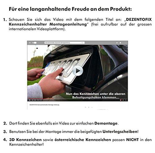 DEZENTOFIX CMS Kennzeichenhalter (EU Standard Grösse 52cm), Schwarz, Anzahl 2 - 6