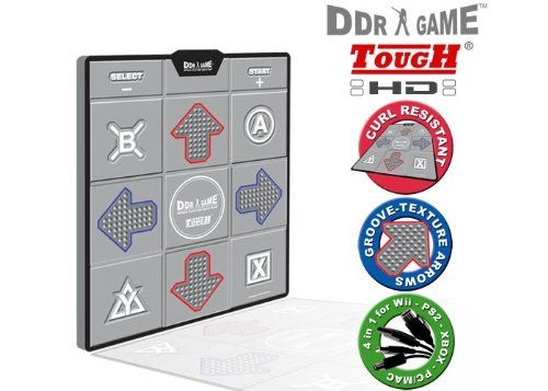 Hyperkin Inc PS/PS2/Xbox/USB/GC/Wii - Tough HD Deluxe Universal Dance Pad by Dance Dance Revolution