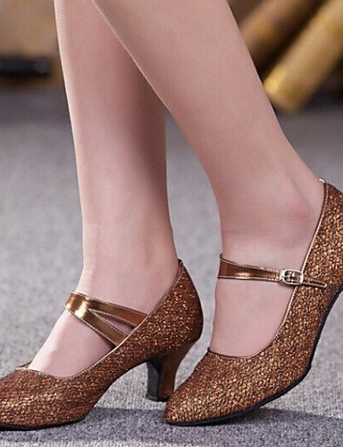 ShangYi Nicht Anpassbare - Keilabsatz - Glitter - Modern/Standard-Tanz Schuhe - Damen Silver