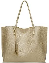 8259dc543b437 PB-SOAR Damen Mädchen Fashion Shopper Schultertasche Schulterbeutel  Henkeltasche Handtasche…