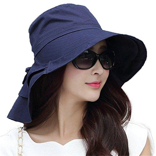 2ed9d08e00903 Siggi Ladies Summer Bill Flap Cap SPF 50 Cotton Sun Golf Hat with Neck  Cover Chin