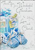 Thank you for A Wonderful Grandson to Love and Cherish - Baby Boy Card