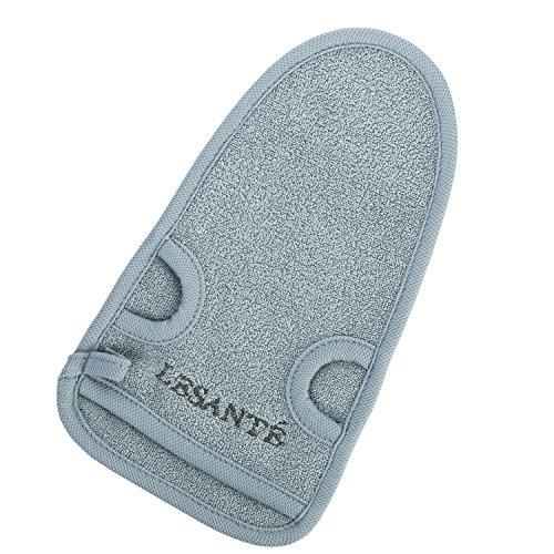 Natur Peelinghandschuh aus Pflanzenfaser | perfekt für Körperpeeling und Hamam | reinigt porentief | Massagehandschuh | Premium Wellness Handschuh (Grau)