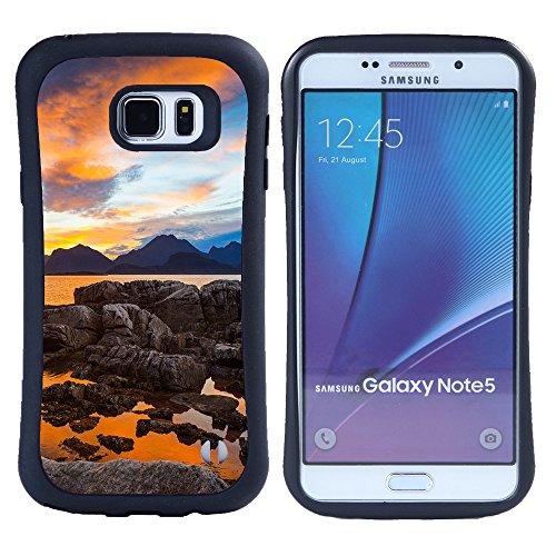 Super Galaxy iFace Slim Fit Seriesdual Layer Rigida Protettiva Custodia Case // F00001821 norvegia mare oceano nave nordico // Samsung Galaxy Note 5