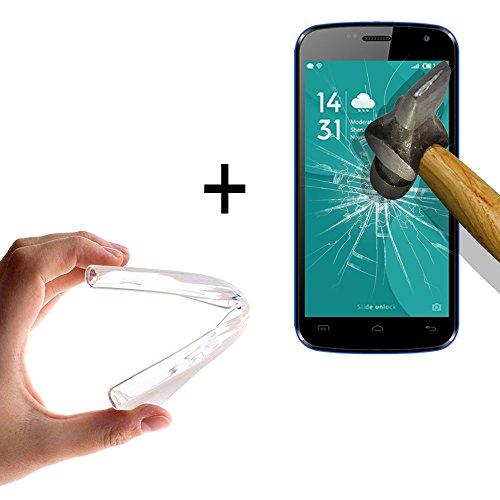 WoowCase - [ Doogee X3 Schutzhülle Silikon Transparent [ +1 Schutzglas ] 9H Panzerglas Bildschirm Schutzfolie, Hülle Case TPU
