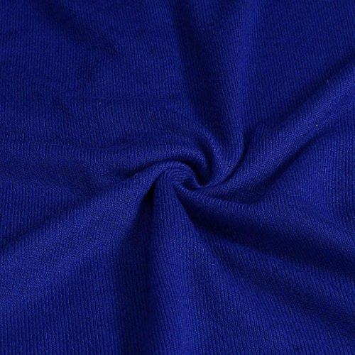 Vetement Femme, Kolylong® Femmes Sexy Col En V à Manches Longues Romper Salopette Combinaison Top Chemisier Bleu
