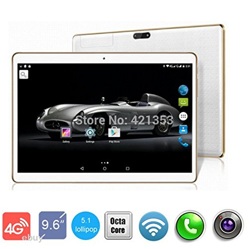 4G LTE Glod 10 inch Tablet Phone 8 core Tablet PC Octa Cores 2560X1600 IPS RAM 4GB ROM 64GB 8.0MP Bluetooth WIFI 4G Dual sim card Wcdma+GSM Tablets PCS Android5.1 electronics 7 9 10 (4g Tablet Gsm)