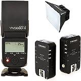 Yongnuo YN-568EX II Blitzgerät für Canon + YN-622C Funkauslöser mit TARION® Diffusor