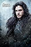 Póster Game of Thrones - 6ta. Temporada 'Jon Snow' (61cm x 91,5cm) + 1 Póster con motivo de paraiso playero