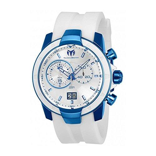 technomarine-mens-uf6-45mm-white-silicone-band-steel-case-quartz-silver-tone-dial-analog-watch-tm-61