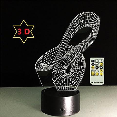 ATD® Ilusión 3D del nuevo diseño abstracto gradientes de color Acrílico LED 15 táctil de interruptor de teclas luz de la noche
