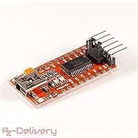 AZDelivery FTDI Adapter FT232RL USB zu TTL Serial für 3,3V und 5V