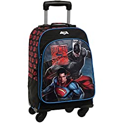 Warner Superman Batman Mochila Escolar, 32.57 Litros, Color Gris