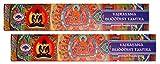 Trimontium GTL Premium-Masala-Räucherstäbchen Duo-Pack (2 x 15 g) Vajrayana Buddhist Buddhistisches Tantra, Kräuter, Gummen, Harze, Wurzeln, ätherische Öle, Natur 21.5 x 8 x 1.9 cm