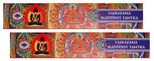 Trimontium GTL Premium-Masala-Räucherstäbchen Duo-Pack (2 x 15 g) Vajrayana Buddhist Buddhistisches Tantra, Kräuter, Gummen, Harze, Wurzeln, ätherische Öle, Natur, 21.5 x 8 x 1.9 cm