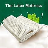 Nclon Naturale Puro Importazione Latex Materasso,Ergonomia Traspirabilità Tatami Stuoie- 180x190cm(71x75inch)