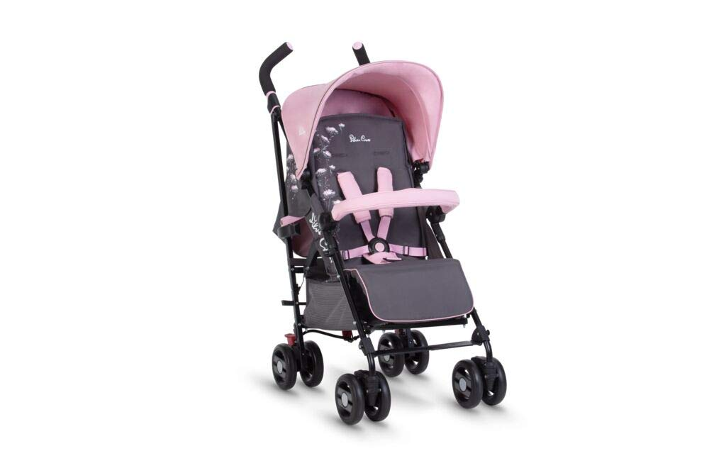 Silver Cross Pop Star Dancing Daisy Silver Cross Suitable from birth to a maximum weight of 25kg Fully extendable, ventilated hood for ultimate sun protection; rain cover included Wide seat and tall back rest for growing little girls and boys 3