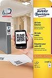 Avery Zweckform L7120-25 QR Code Etiketten (A4, 875 Stück, blickdicht, 35 x 35 mm) 25 Blatt weiß
