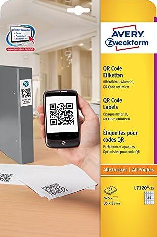 Avery Zweckform L7120-25 QR Code Labels 35 x 35
