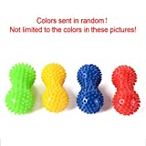 Behavetw Peanut Spiky Massage Ball Roller - Yoga Fitness Ball Reflexology Muscle Trigger Point Therapy