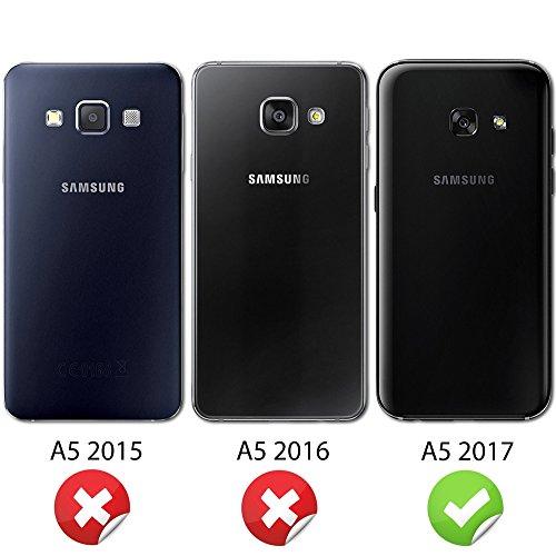 NALIA Handyhülle für Samsung Galaxy A5 2017, Ultra-Slim TPU Silikon Jelly Case Hülle, Dünne Gummi Schutzhülle Skin, Etui Handy-Tasche Back-Cover Bumper für Samsung A5 2017 Smartphone - Grün - 4