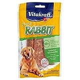 Vitakraft Fleischsnack für Hunde, Kaninchenfleisch-Streifen, Pure RABBIT, 6er Pack (6 x 80 g)
