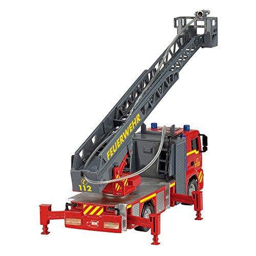 Dickie Toys 203715001 – City Fire Engine, Feuerwehrauto mit manueller Wasserspritze, 31 cm - 4