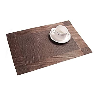 Addfun®Table Mats,Premium Washable Place Mats Non-slip Insulation PVC Mats for Dining Table - cheap UK light store.