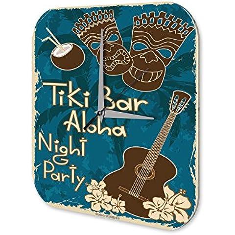 Orologio da parete Partito di Tiki Bar Aloha Bar Pub Déco Restaurante - Tiki Bar Della Decorazione Della Parete