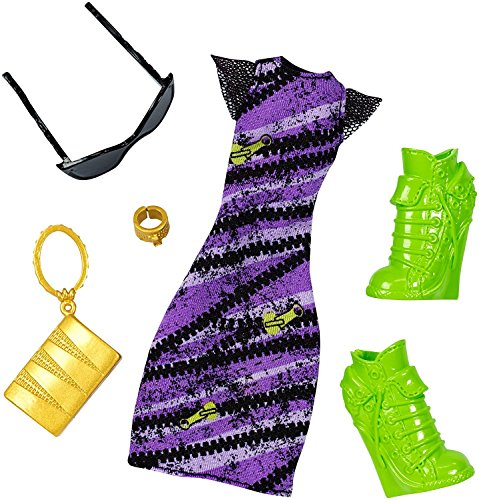 (Monster High - DNX61 - Clawdeen Wolf Spooky Sweet Komplett-Look - Deluxe Puppe Kleidung Kostüm Fashion Pack)