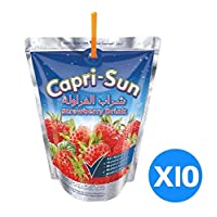 ‏‪Capri Sun Strawberry, 200 ml - Pack of 10‬‏