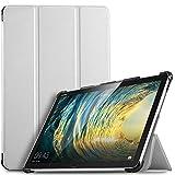 IVSO Hülle für Huawei MediaPad M5 Lite 10, Ultra Schlank Slim Schutzhülle Hochwertiges PU mit Standfunktion Ideal Geeignet für Huawei MediaPad M5 Lite 10 10.1 Zoll 2018 Modell, Weiß