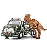 Xyfw Legierungsmodell des Dinosaurieranzugs Nicht for Den Straßenverkehr LKW Mit Tierspielzeug Der...