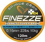 Savage Gear Finezze HD4 Braid 120m geflochtene Schnur gelb, Angelschnur, Schnüre zum Spinnfischen, Spinnangeln, Raubfischschnur, Hechtschnur, Zanderschnur, Barschschnur, Forellenschnur, , Durchmesser/Tragkraft:0.16mm / 10kg Tragkraft