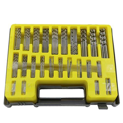 QHGstore 150Pcs diametro 0.4-3.2Mm Shank Drill Bit Set Twist Drill strumento di Diy