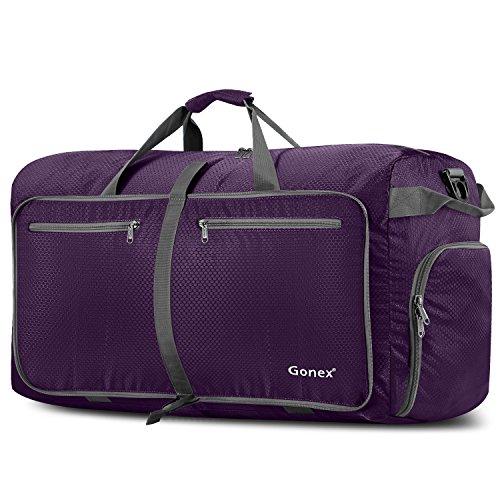 Gonex Leichter Faltbare Reise-Gepäck 100L Duffel Taschen Übernachtung Taschen/Sporttasche für Reisen Sport Gym Urlaub - Safari Trolley