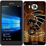 DesignedByIndependentArtists SilikonHülle für Microsoft Lumia 950 - Drache In Gold Und Schwarz by nicky2342