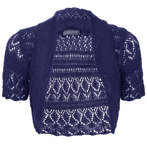 womens-ladies-knitted-crochet-bolero-shrugs-cardigan-short-sleeves-top-size-8-18navy18-20-uk-16-18-e