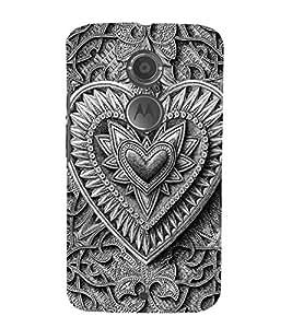 Decorative Heart Design 3D Hard Polycarbonate Designer Back Case Cover for Motorola Moto X2 :: Motorola Moto X (2nd Gen)