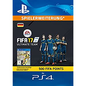 FIFA 17 Ultimate Team – 500 FIFA Points [PlayStation Network Code – deutsches Konto]
