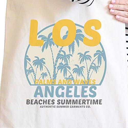 365 Printing inc , Borsa da spiaggia  Donna Enjoy The Sunshine Misura unica Los Angeles Beaches Summertime