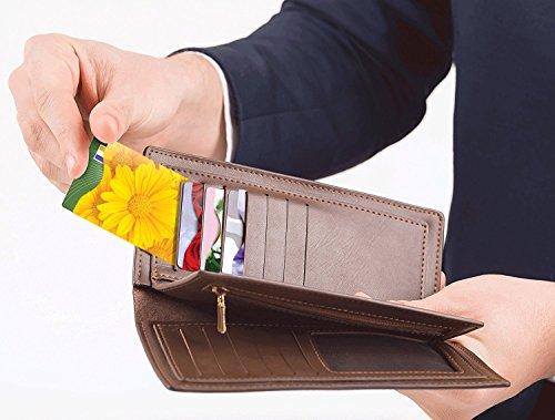[12-Packung] RFID Blocking Hüllen - Designer Set, für Kreditkarte & ID Schützhüllen, ideal für im Portemonnaie / Passschutzhülle - Voller Schutz RFID & NFC - Wunderschöne Blumen - Bild 3