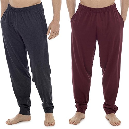 CComfort Mens Lounge Wear Pants With Cuffed Bottoms or Lounge Shorts – Soft, Cosy & Comfy Nightwear Trousers 100% Cotton - Mens Pyjama Bottoms Jogger Lounge Pants - Perfect Gift For him