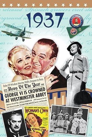 1937 Anniversaire Cadeau - 1937 DVD et Cartes de Voeux