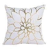 VJGOAL Elegante Jacquard Gold Foil Printing Funda de Almohada sofá Cintura Throw Funda de cojín decoración del hogar