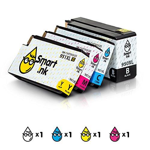 Smart Ink Kompatibel Druckerpatronen Tintenpatronen für HP 950 XL 951 XL 4 Multipack (Black & C/M/Y) Patrone hoher Kapazität für HP Officejet 8100 8600 8610 8620 8630 8640 8660 8615 8625 251DW 276DW Drucker