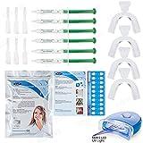 Teeth Whitening Kit 6 Gel,LED Lazer Light, X4 Mouth Trays + Free Teeth Shade - Professional Teeth Bleach Whitening KIT