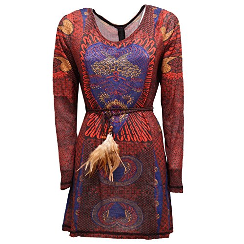 2587R maglia donna vestito CUSTO BARCELONA LOVE REAL multicolor dress woman [3/M]