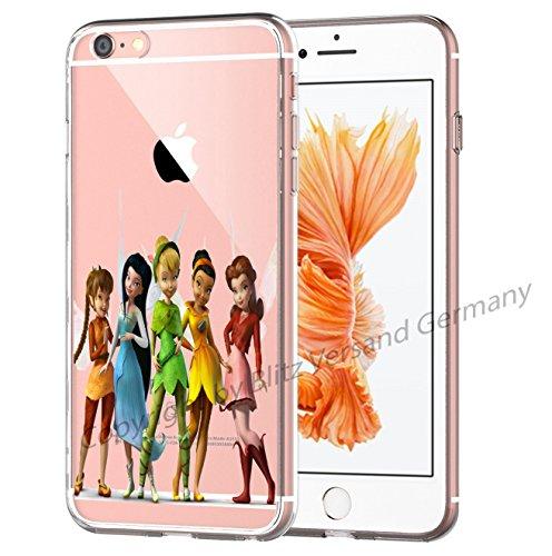 Blitz® Fée Clochette motifs housse de protection transparent TPE iPhone M4 iPhone 6 6s M16