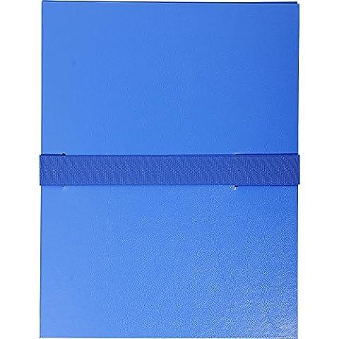 Exacompta 622E–Cartellina per presentazioni (balacro copertina, chiusura in velcro nastro, DIN A4) blu